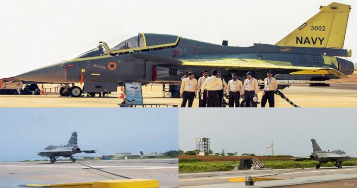 Naval Version of India's LAC Tejas Successfully Tests tail hook system