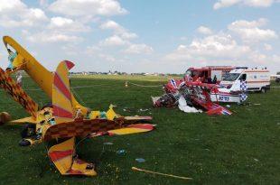 1 Dead in Two Steen Aero Lab Skybolt aerobatic aircraft midair collision Romania