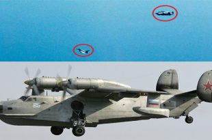 RAF Typhoons Intercepted Russian Navy Beriev Be-12 Amphibian Aircraft