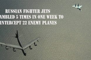 Russian fighter jets scrambled 5 times in one week to intercept 22 enemy planes