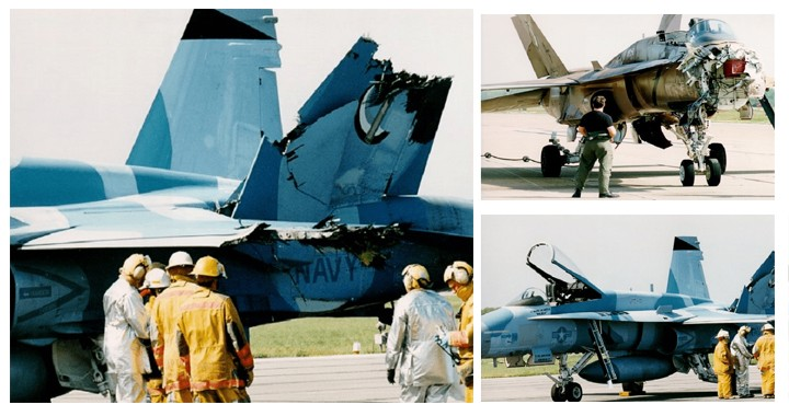 The Story Of horrific mid-air Collision between two F/A-18s Hornet fighter jets