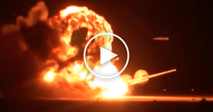 Video of Russian Tu-95 bomber bursts into flames on the runway during take off