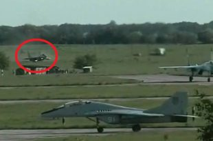 Video of Mig-29 Fulcrum runway overrun