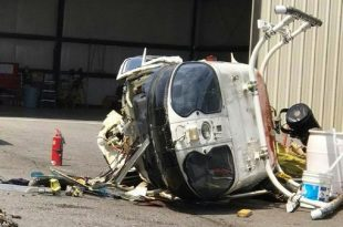 Watch: Police helicopter crashes injuring pilot