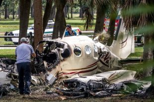 Cessna C340 aircraft crashes near Palm Beach County Park Airport, 2 Dead