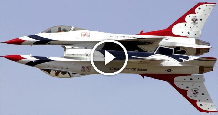 Crazy Stunts performed by USAF Thunderbird Aerobatic Pilot