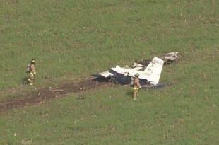USAF T-6A Training Plane Crashes In San Antonio, Texas