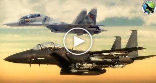 Latest Video Shows F-15 Eagle Intercept Russian SU-30 Flankers