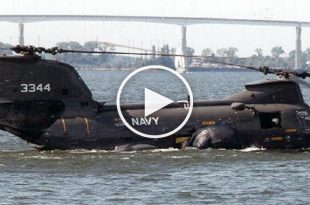 Engine failure as CH-46 crashed into Sea - Helo Didn't Float Like It Should