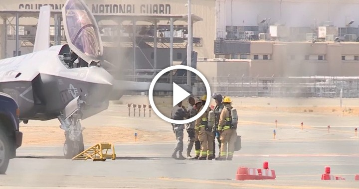F-35 fighter jet makes an emergency landing in Fresno