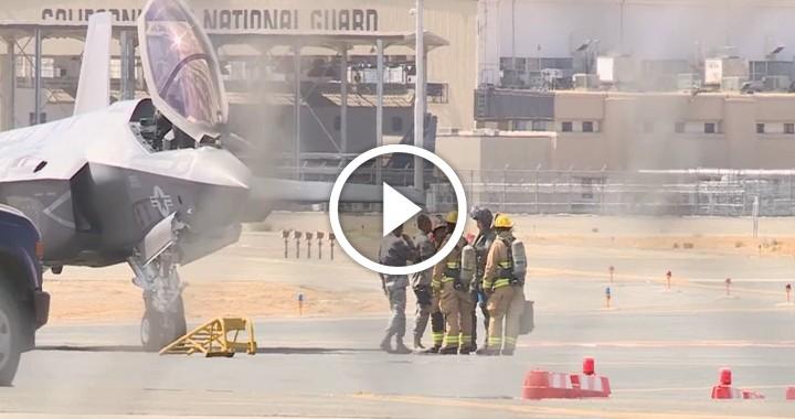 F-35 fighter jet makes an emergency landing in Fresno