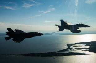 F-35C Lightning II and F/A-18F Damaged During Inflight Refueling Accident
