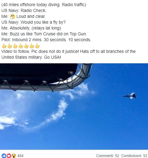 """Boat Captain to F/A-18 pilot: """"Buzz Us Like Tom Cruise Did On Top Gun"""""""