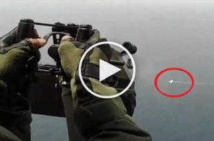 Amazing Video of Helicopter Door Gunner vs Drone