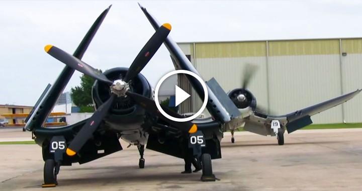 Here's The Sweet Sound Of An F4U Corsair Firing Up