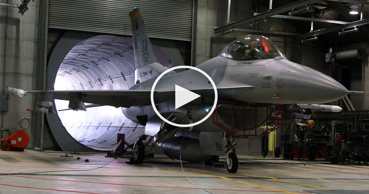Listen To F-16 General Electric F110 After-burning Turbofan Jet Engine