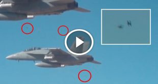 Video of Micro Drone Swarm dropped From FA-18
