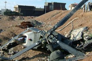 Five Killed in an Afghan National Army Helicopter crash In Farah