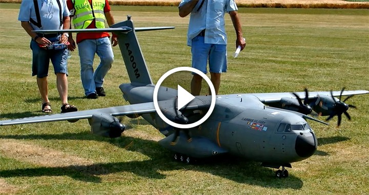 RC Airbus A400M Scale Model Airplane that can Drop R/C  Paratrooper