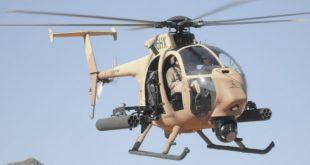 Saudi Arabia Boeing AH-6i Helicopter crashes in Khashm Alan Airport