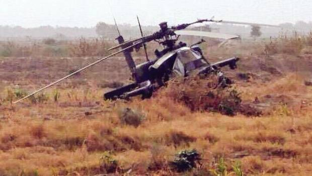 Saudi Arabian Army  AH-64 Apache helicopter crashes in eastern Yemen, 2 killed