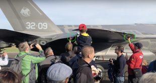 Lucky Spectators Touch Italian F-35A Lightning II at Belgian Air Show