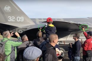 Lucky Spectators Touch Italian F-35A Lightning II at Belgian Air Show