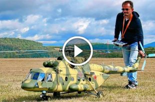 Stunning GIGANTIC Mil Mi-8 AMT RC Turbine Scale Model