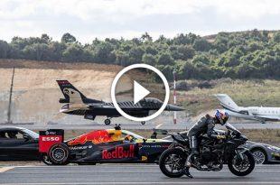 Super-Car vs Super-Bike vs F1 car vs Private jet vs Fighter jet