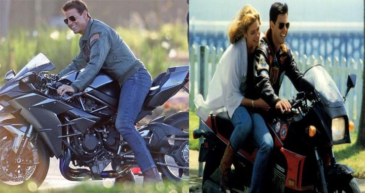 Top Gun Sequel latest News: In-Flight Emergency & Tom Cruise's Riding a Kawasaki Ninja H2 Motorcycle
