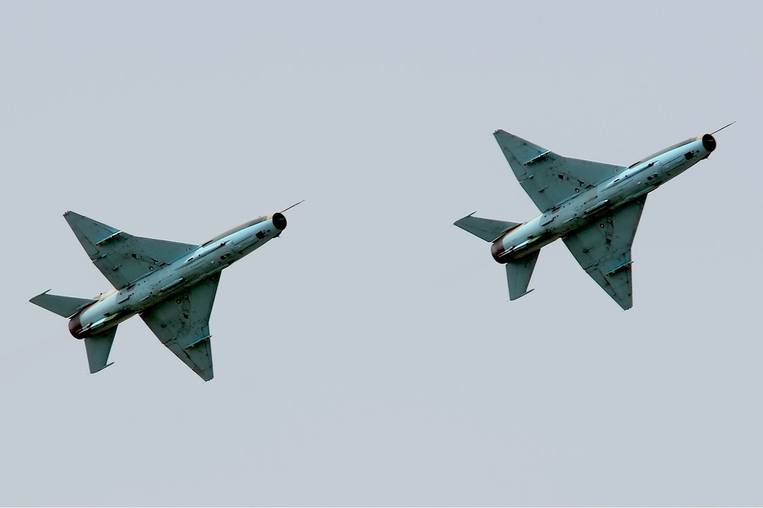 Two Nigerian Air Force Chengdu F-7Ni collided midair near Abuja, Nigeria