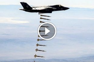 U.S. F-35B Joint Strike Fighters fighter jet conducts first-ever airstrike
