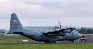 USAF C-130H Hercules makes emergency landing at Shannon after engine issue