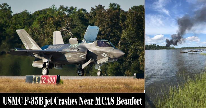 USMC F-35B Stealth Fighter jet Crashes Near MCAS Beaufort