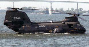 Engine failure as CH-46 crashed into Sea - Helo Didn't Float Like It Should