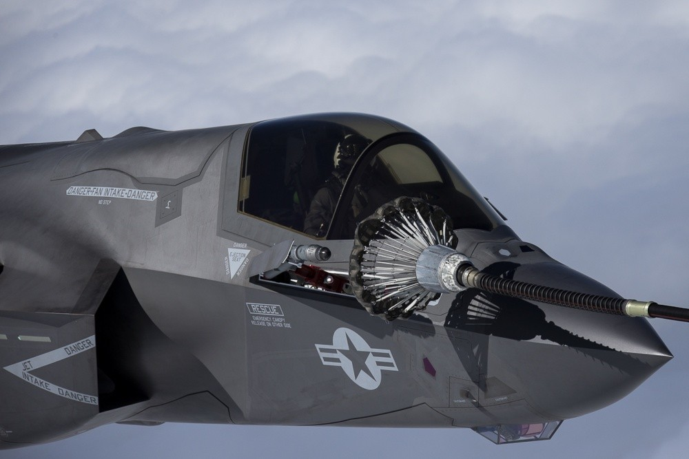 F-35B conducted First aerial refueling mission above the East China Sea