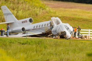 Exclusive video shows Greenville Falcon 50 plane crash