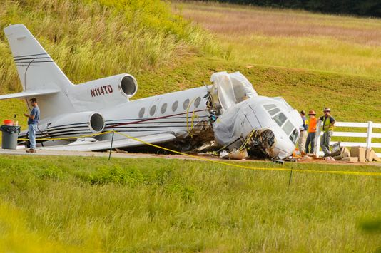 Exclusive video shows Greenville Falcon 50 plane crash