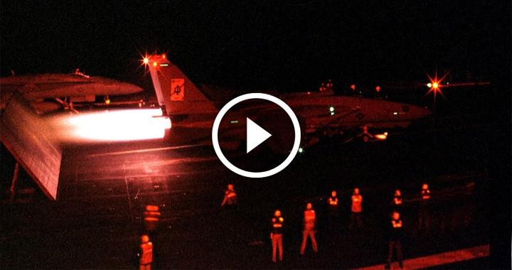 F-14 blew another Tomcat off a flight deck