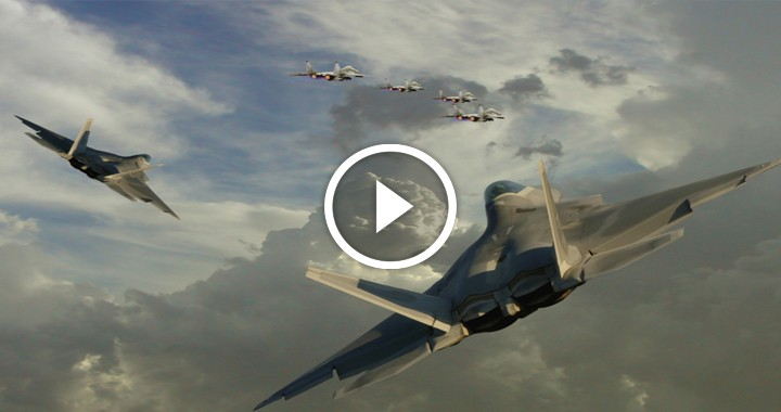 "F-22 ""deterred"" 587 enemy aircraft in their first 'combat surge' over Syria"