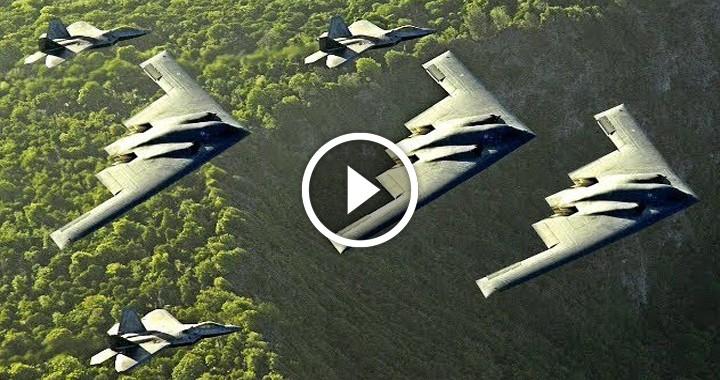 F-22s & B-2 Deployment Shows How Air Force Would Cripple China