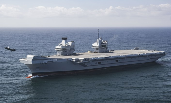 First F-35Bs Operate off of HMS Queen Elizabeth