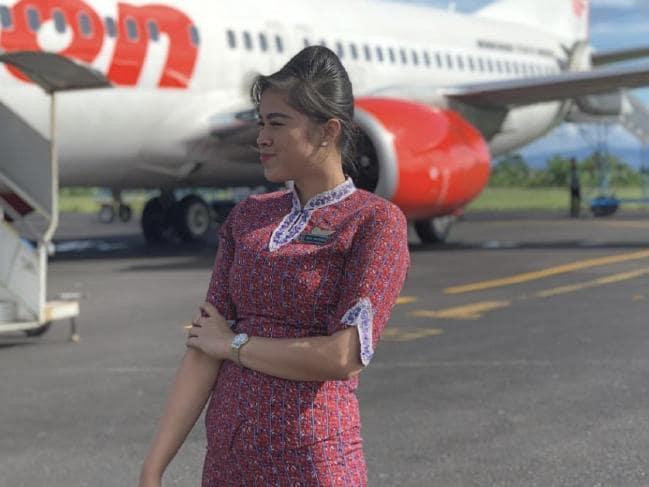 Flight attendant Mery Yulyanda. Picture: InstagramSource:Supplied