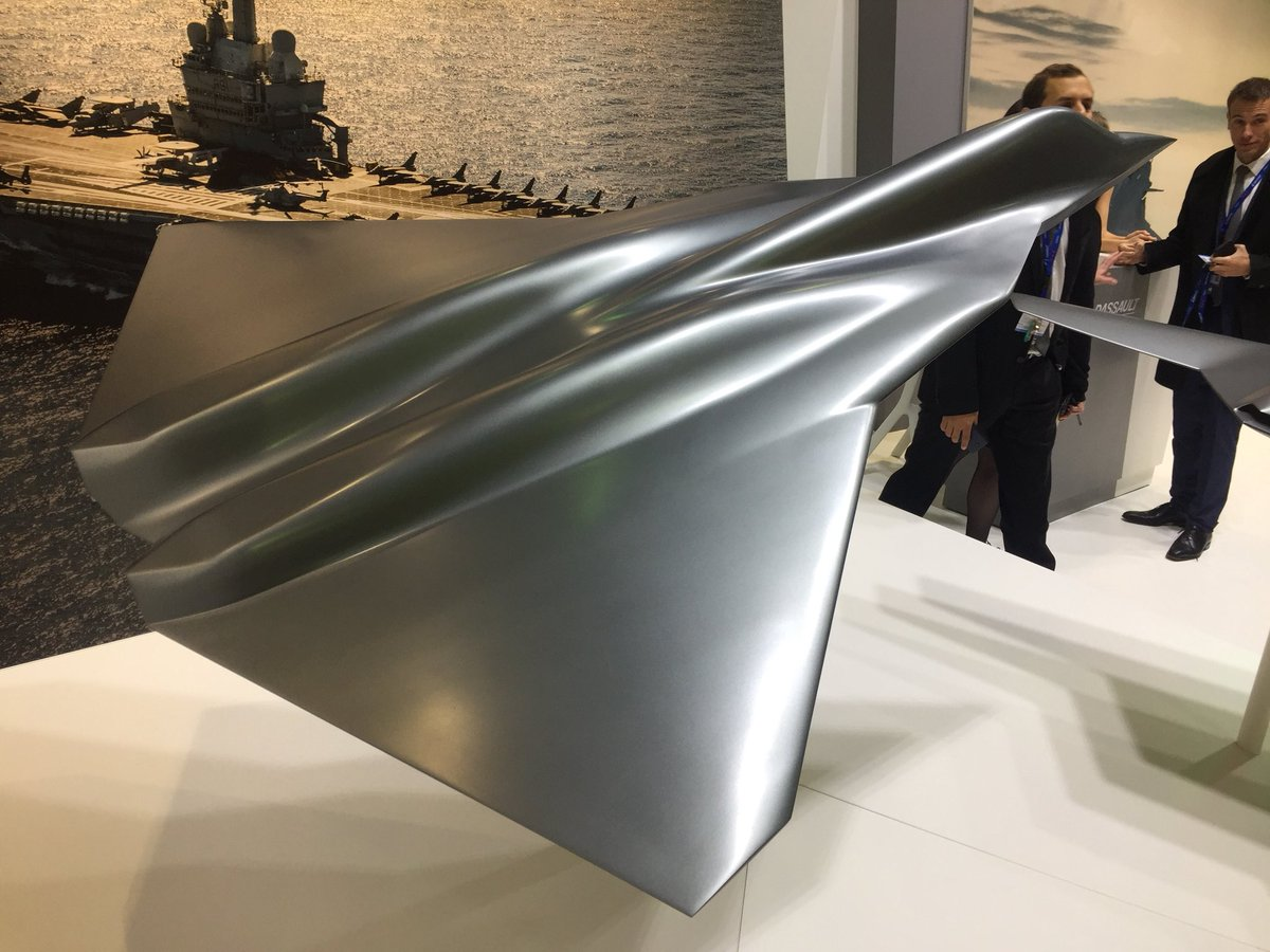 France unveils swept W-shaped wing model of the New Generation Fighter jet
