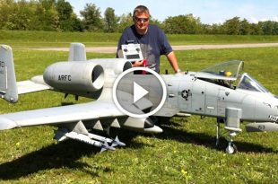 Gigantic RC A-10 Warthog Roars Dynamic Engines And Unleashes Flares