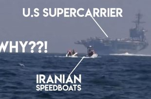 Why Iranian speedboats chase U.S Super-carrier USS Roosevelt?