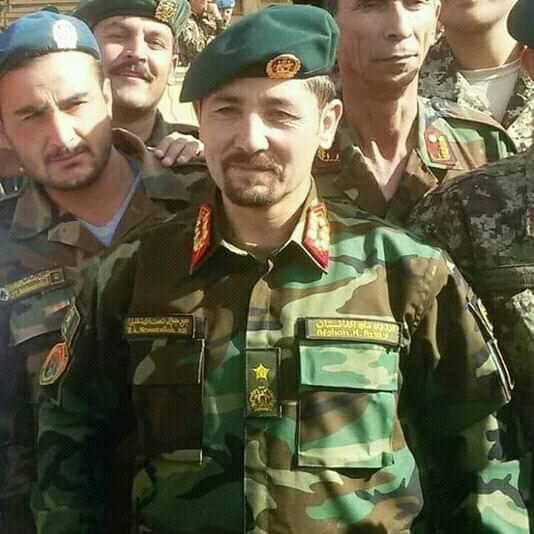 Major GeneralNaimatullah Khalil, deputy commander of 207 Zafar corps who lost his life, in ha helicopter crash, in eastern #Farah Province, today, 31-10-2018