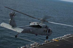 Navy helicopter crashed on the USS Ronald Reagan's flight deck - 12 injured