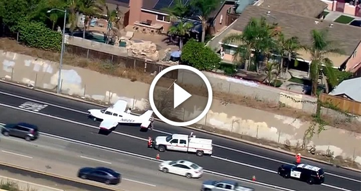 Plane Make an Emergency Landing in the Middle of an Active Interstate