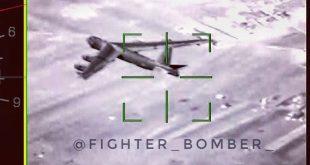 Russian Fighter jets radar locks on B-52 bomber flying above Syria